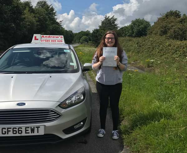 Hannah driving lessons Penrhyn Bay