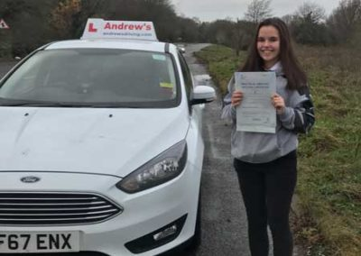 Alanah Egan passed the new 2017 driving test today 7th December 2017.