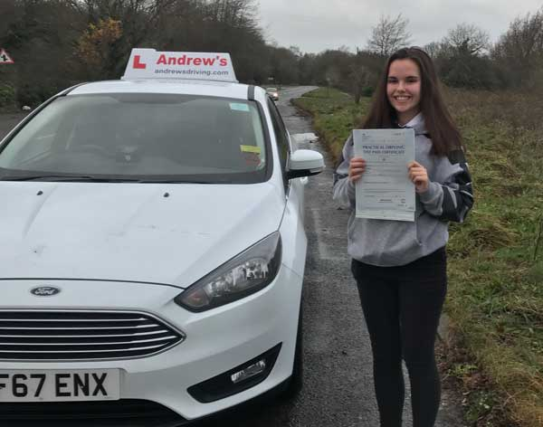 Alanah passed the new sat nav driving test