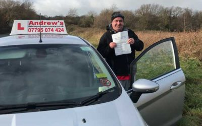 David passed new driving test in North Wales