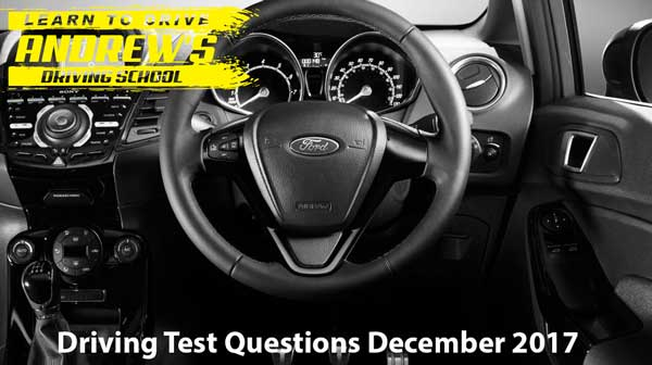 Drving test questions 2017