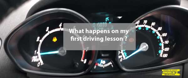 First Driving Lesson what to expect