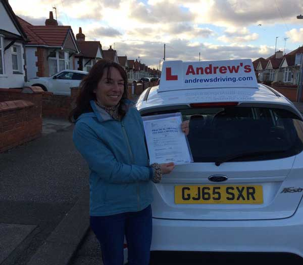 Muria Passed her test in Rhyl