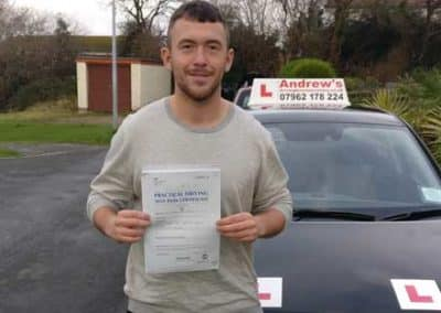 Ben Warr Jones passed first time 5th January 2018.