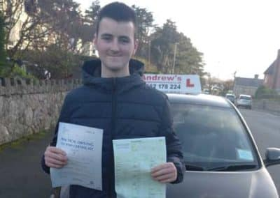 Cameron Lee passed first time with no minors 24th January 2018.