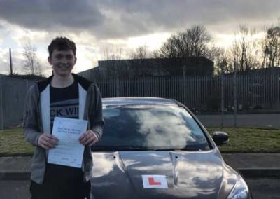 Ethan Jones passed first time February 15th 2018.