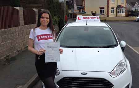 Tegan Hirst passed first time  21st February 2018