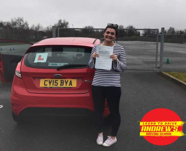 Hannah from Llandudno passed driving test