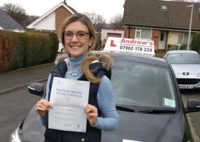 Tilly Davies passed First Time 31st January 2018