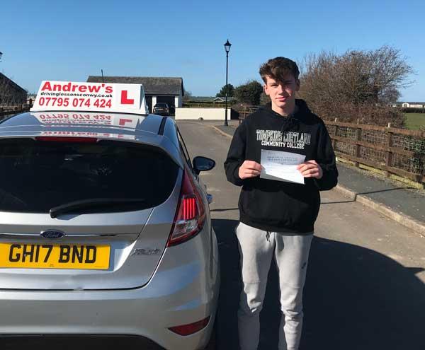 Lennon's Driving Test in Rhyl