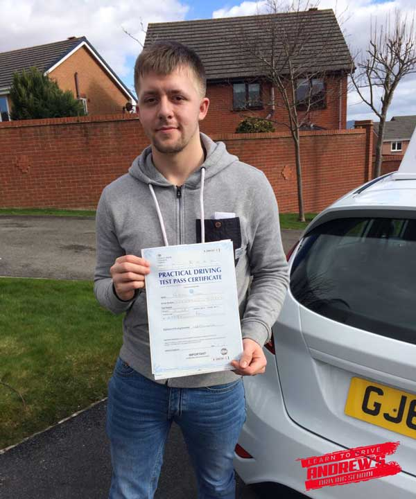 Will took driving lessons in Denbigh