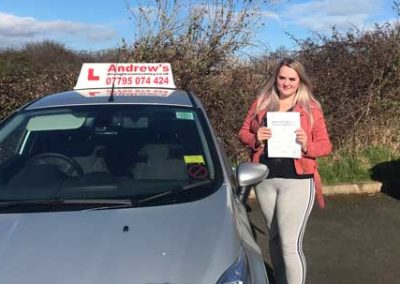 Carly Hardwick passed first time 29th March 2018.