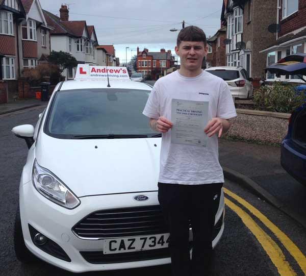 Kurtis driving test in Rhyl