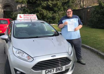 Craig Jones passed first time at Bangor, 6th April 2018.