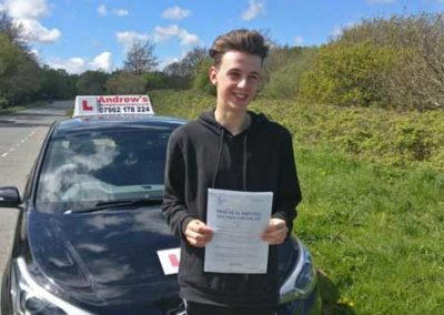 Harri Griffiths passed first time at Bangor 30th April 2018.