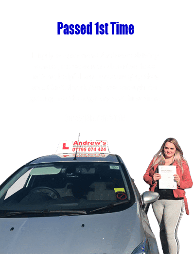 driving lesson prices testimonial