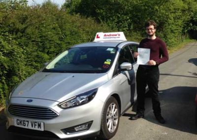 Adam Wilson from Dolgarrog passed at Bangor 18th May 2018