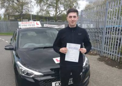 Bradlee Rowlands passed first time at Bangor May 2nd 2018