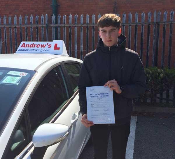 Jake's Driving test in Rhyl