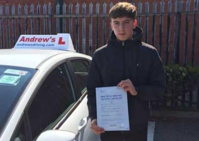 Jake Kivell passed in Rhyl 22nd May 2018.