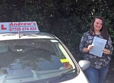 Phoebe Evans from Old Colwyn passed first time May 29th 2018