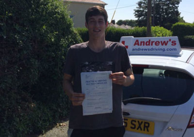 Connor Schofield passed in Rhyl 11th June 2018
