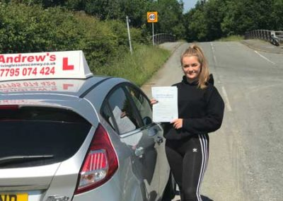 Sian Jones from Llandudno Junction passed in Bangor 6th June 2018.