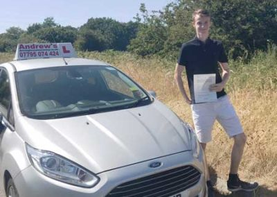 Spencer Ward passed first time 28th June 2018