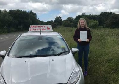 Amelia from Llandudno Junction passed first time  14th June 2018.