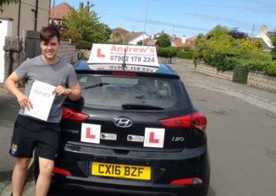 Luke Rowlands passed first time at Bangor 20th June 2018.