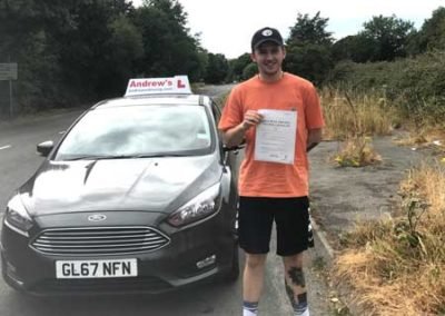 Adam Hughes passed in Bangor 13th July 2018.