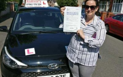 Hayley passed first time