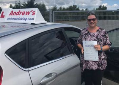 Karri Williams passed first time with us at Bangor on 17th July 2018.