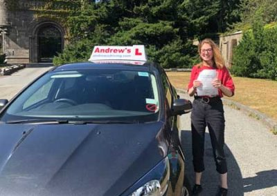 Katie Scamans from Llandudno passed at Bangor 17th July 2018.