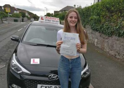 Isabel Sweeney Passed first time in Bangor 23rd July 2018.