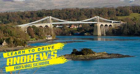 Menai Bridge Anglesey and driving lesson Logo