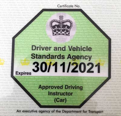 Cost to become a driving instructor and get this green badge.
