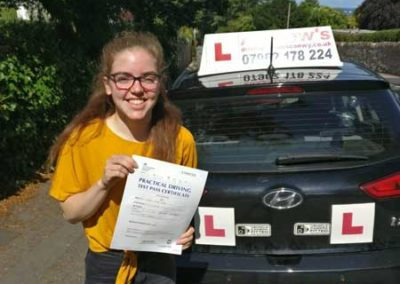 Caitlin Walker Passed her driving test 31st July 2018.
