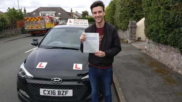 Harry passed first time