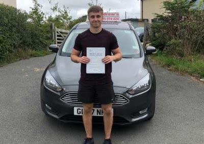 James Andrews  passed first time in Bangor 8th August 2018.
