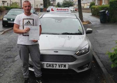 Jason Lyon passed first time 7th August 201