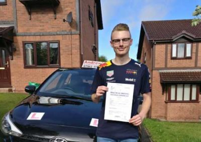 Josh Lovatt passed first time 30th July 2018.