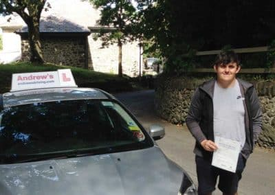 Lewis from Penmaenmawr passed first time on 9th August 2018.