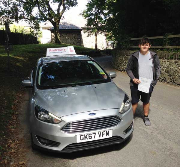 Lewis from Penmaenmawr passed first time