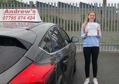 Lucy Williams from Conwy passed first time 15th August 2018
