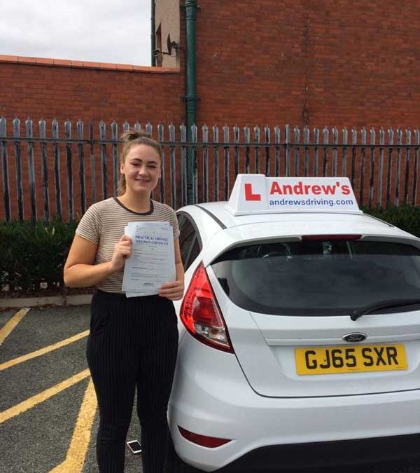 Caitlin's driving test in Rhyl