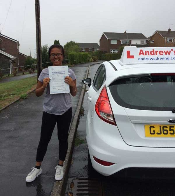 Danice after her driving lesson