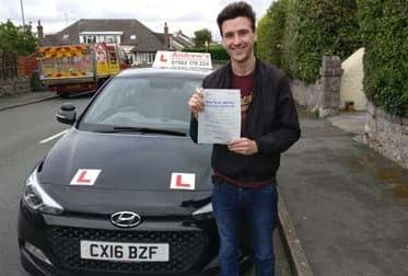 Harry Bennett from Rhos on Sea passed first time at Bangor 23rd August 2018.