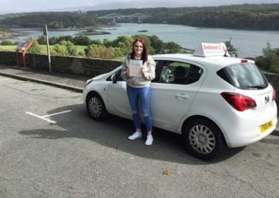 Lauren Richardson from Holyhead, passed first time at Bangor  18th September 2018.