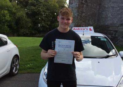 Luke Bowen passed first time at Rhyl